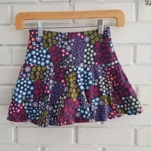 Lands End floral skirt